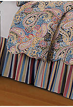 Bright Blue Paisley Full Bedskirt 54-in. x 76-in.