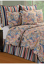 Bright Blue Paisley Twin Quilt 66-in. X 86-in.