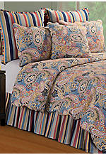 Bright Blue Paisley Full/Queen Quilt 90-in. x 92-in.