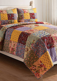 C&F Floria Full/Queen Quilt Set