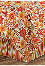Isabo Multicolored Queen Bedskirt 60-in. x 80-in. + 18-in. Drop