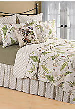 Botanical Medley Multicolored Twin Bedskirt 39-in. x 76-in. + 14-in. Drop