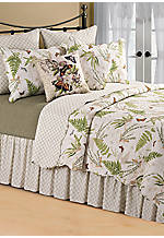 Botanical Medley Multicolored Full Bedskirt 54-in. x 76-in. + 14-in. Drop