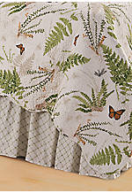 Botanical Medley Multicolored King Bedskirt 78-in. x 80-in. + 14-in. Drop