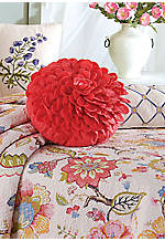 Kenzie Pink Floral Petal Round Decorative Pillow 16-in. Round