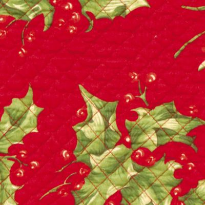 Holiday Table Linens: Assorted Colors C&F HOLLY RED QLT PM