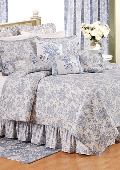 C&F Shelby Blue Quilt Collection - Online Only