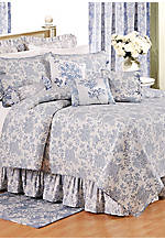 Shelby Blue Queen Bedskirt 18-in.