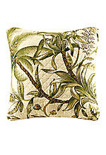 Barbados Green Exotic Print Square Pillow 14-in. x 14-in.