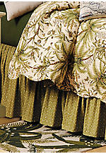 Barbados Green Full Bedskirt 18-in. Drop