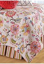 Kenzie Multicolored Queen Bedskirt 60-in. x 80-in. + 18-in. Drop