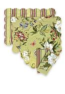 C&F Magnolia Reversible Placemat and Napkin -