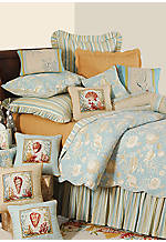 Natural Shells Aqua Euro Sham 27-in. x 27-in.