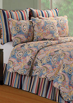C&F Paisley Blue Quilt Collection