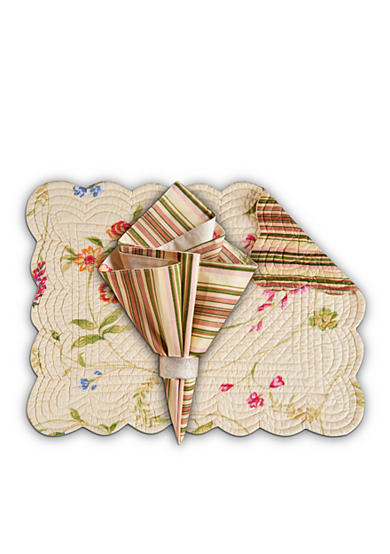 C&F Priscilla Yellow Placemat and Napkin