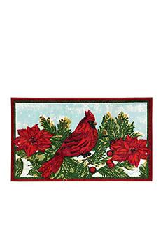 Nourison Cardinal Poinsettia Accent Rug