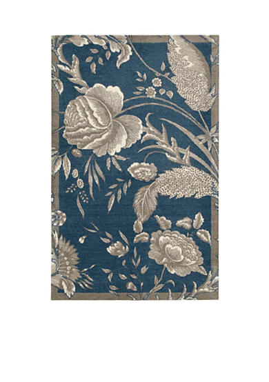 Waverly® Artisanal Delight Fanciful Indigo Area Rugs - Online Only