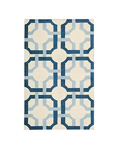 Waverly® Artisanal Delight Groovy Grille Sky Area Rugs