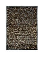 "Expressions Vines Multicolor Area Rug 5'9"" x 2'"