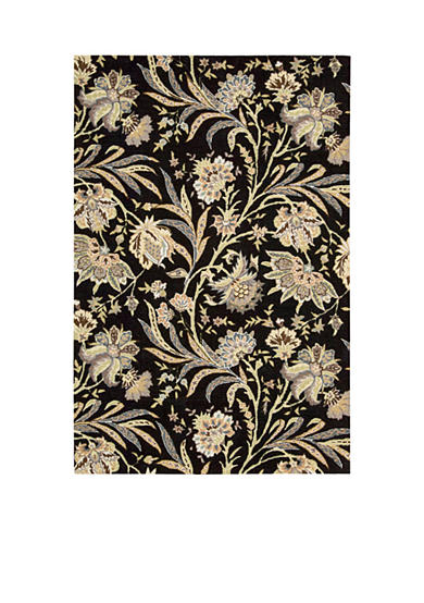 Nourison Gatsby Black Area Rug - Online Only