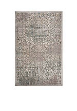 "Graphic Illusions Damask Grey Area Rug 3'9"" x 2'3"""