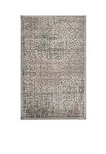 Graphic Illusions Damask Grey Area Rug 8' x 2'3""