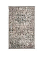 "Graphic Illusions Damask Grey Area Rug 5'6"" x 3'6"""