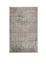 "Graphic Illusions Damask Grey Area Rug 7'5"" x 5'3"""
