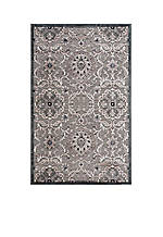 "Graphic Illusions Floral Grey Area Rug 3'9"" x 2'3"""