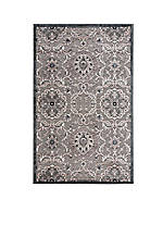 Graphic Illusions Floral Grey Area Rug 8' x 2'3""