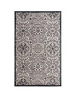 "Graphic Illusions Floral Grey Area Rug 5'6"" x 3'6"""