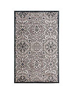 "Graphic Illusions Floral Grey Area Rug 10'10"" x 7'9"""