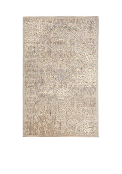 Nourison Graphic Illusions Damask Ivory Area Rug - Online Only