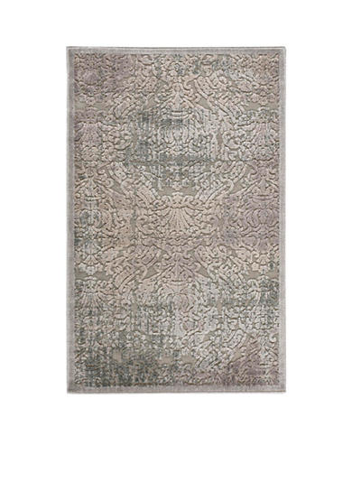 Nourison Graphic Illusions Damask Grey Area Rug - Online Only