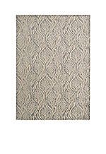 Hollywood Shim Paradise Cover Light Grey Area Rug 8' x 2'3""