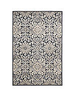 "Bel Air Marseille Charcoal Area Rug 2'1"" x 7'"