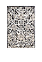 "Bel Air Marseille Charcoal Area Rug 4'11"" x 7'"