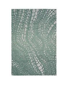 Kathy Ireland by Nourison KI04 PALIS AQUA 8X11