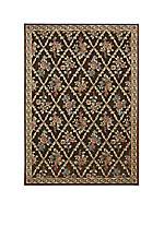 "Villa Retreat Washington Estate Chocolate Area Rug 2'3"" x 3'9"""