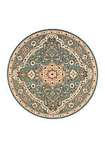 "Antiquities Slate Blue Area Rug 5'3"" Round"