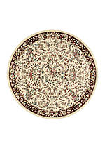 "Antiquities Ivory Area Rug 7'10"" Round"
