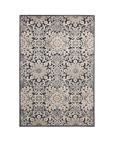 Kathy Ireland Bel Air Marseille Charcoal Area Rug - Online Only