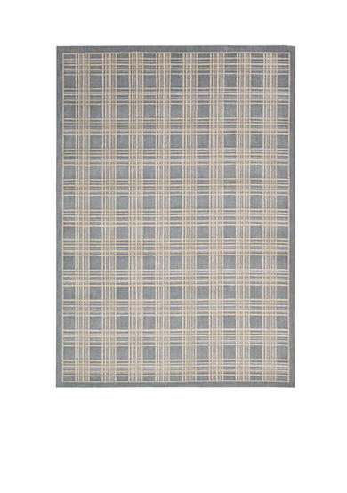 Kathy Ireland Hollywood Shim Mission Craft Blue Area Rug - Online Only