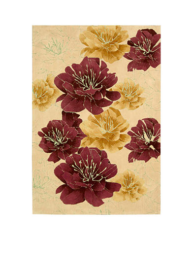 Kathy Ireland Palisades Joshua Blossom Sand Area Rug - Online Only