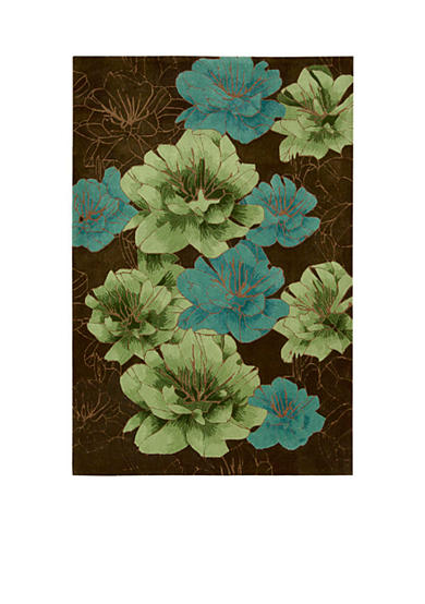 Kathy Ireland Palisades Joshua Blossom Chocolate Area Rug - Online Only