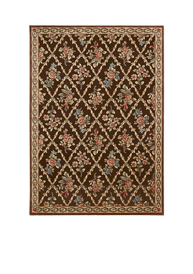 Kathy Ireland Villa Retreat Washington Estate Chocolate Area Rug - Online Only