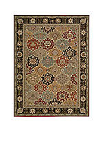 "Persian Crown Black Area Rug 2'11"" x 1'11"""