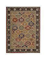 "Persian Crown Black Area Rug 10'6"" x 710"""