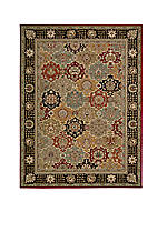 "Persian Crown Black Area Rug 12'9"" x 9'3"""