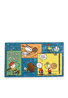 Nourison Peanuts Sports Fan Blue Rug (2'2
